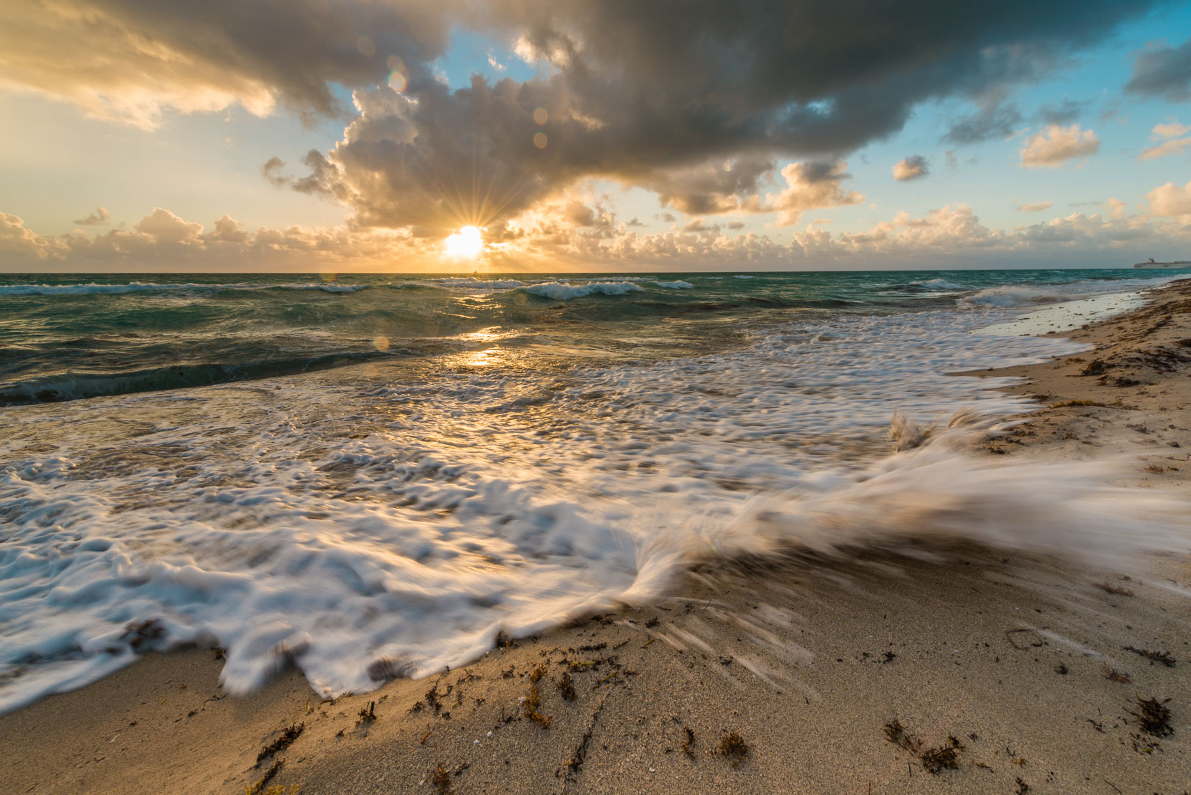 Miami Beach Sunrise over the Waves